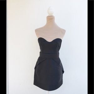 camilla and marc black double duplon belted dress